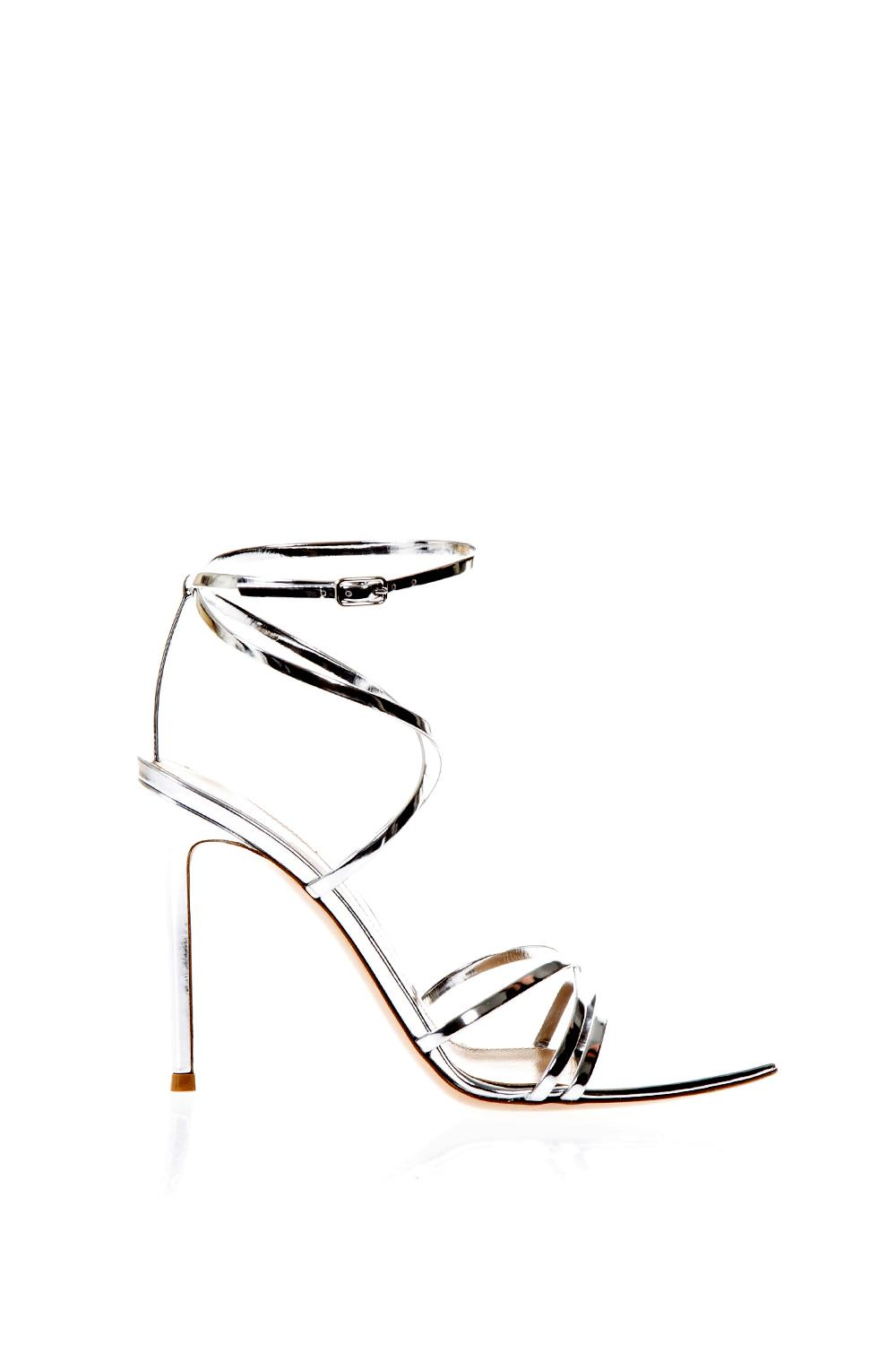 176ce50ff7d METARGE SILVER SANDALS IN LEATHER SS 2018 - GIANVITO ROSSI - Boutique  Galiano