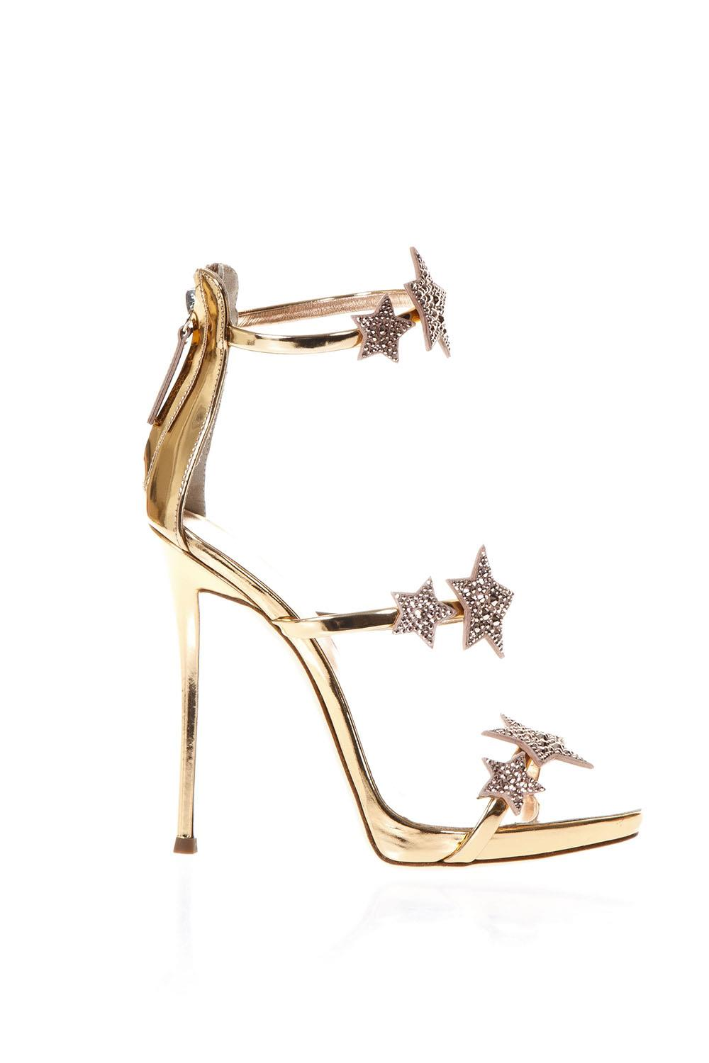 HARMONY STAR GOLD METALLIC LEATHER SANDALS SS 2018 - GIUSEPPE ZANOTTI -  Boutique Galiano 1b0501205