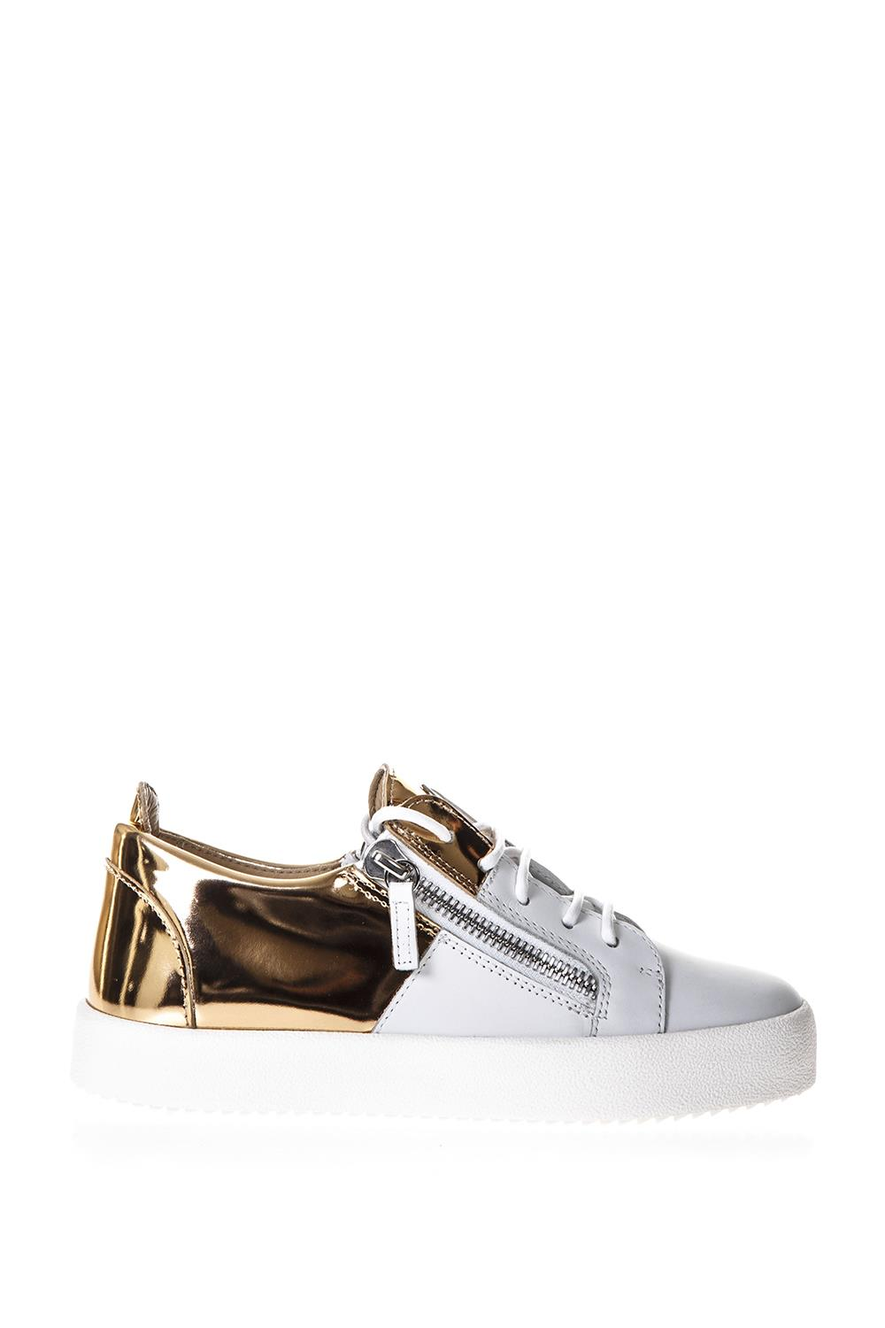 0a2489c88f60 TWO TONE LACED UP LEATHER SNEAKERS SS 2018 - GIUSEPPE ZANOTTI - Boutique  Galiano