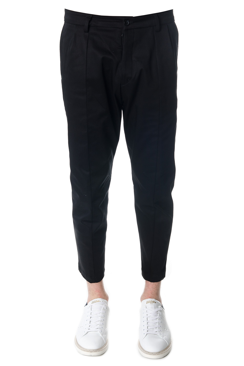 ff3e02fea09b OVERSIZED BLACK COTTON TROUSERS SS 2018 - LOW BRAND - Boutique Galiano