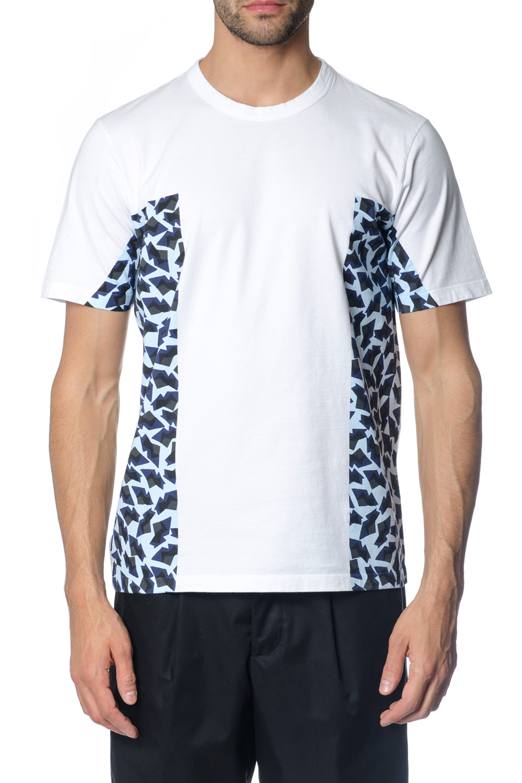 Sky blu print t-shirt SS 2018 - MARNI - Boutique Galiano