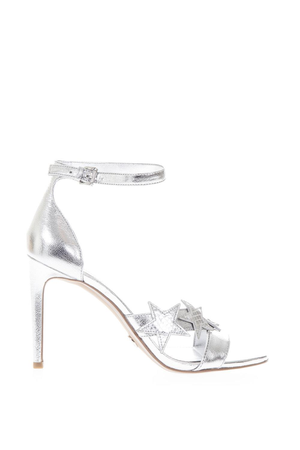 b104e0a5355 SILVER STARS SANDALS IN LEATHER SS 2018 - MICHAEL MICHAEL KORS - Boutique  Galiano