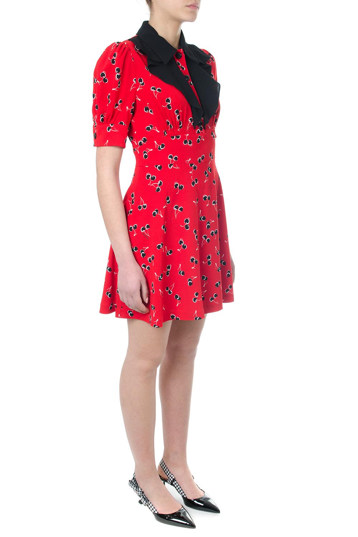 cffa9af04bc RED DRESS WITH CHERRY PRINT SS 2018 - MIU MIU - Boutique ...