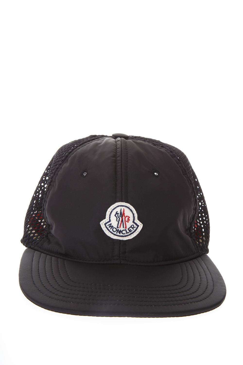 ccecf737771 BLACK NYLON   MESH BASEBALL HAT SS 2018 - MONCLER - Boutique Galiano