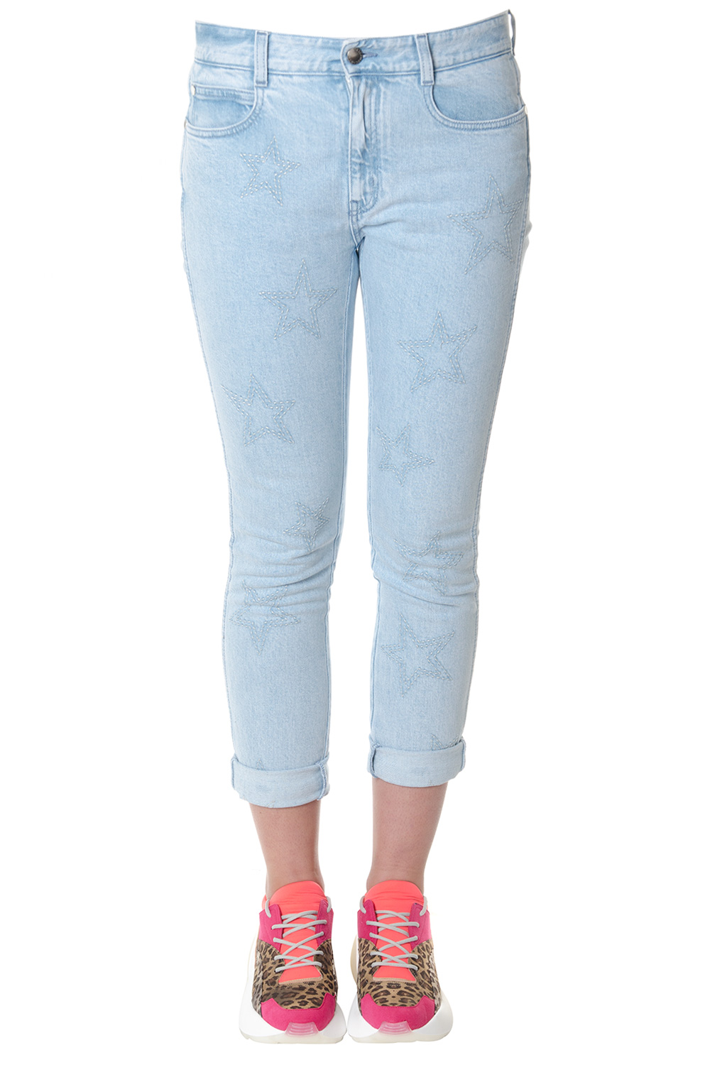 967ee7c42bb SKY SKINNY FIT STARS PRINT JEANS SS 2018 - STELLA McCARTNEY - Boutique  Galiano