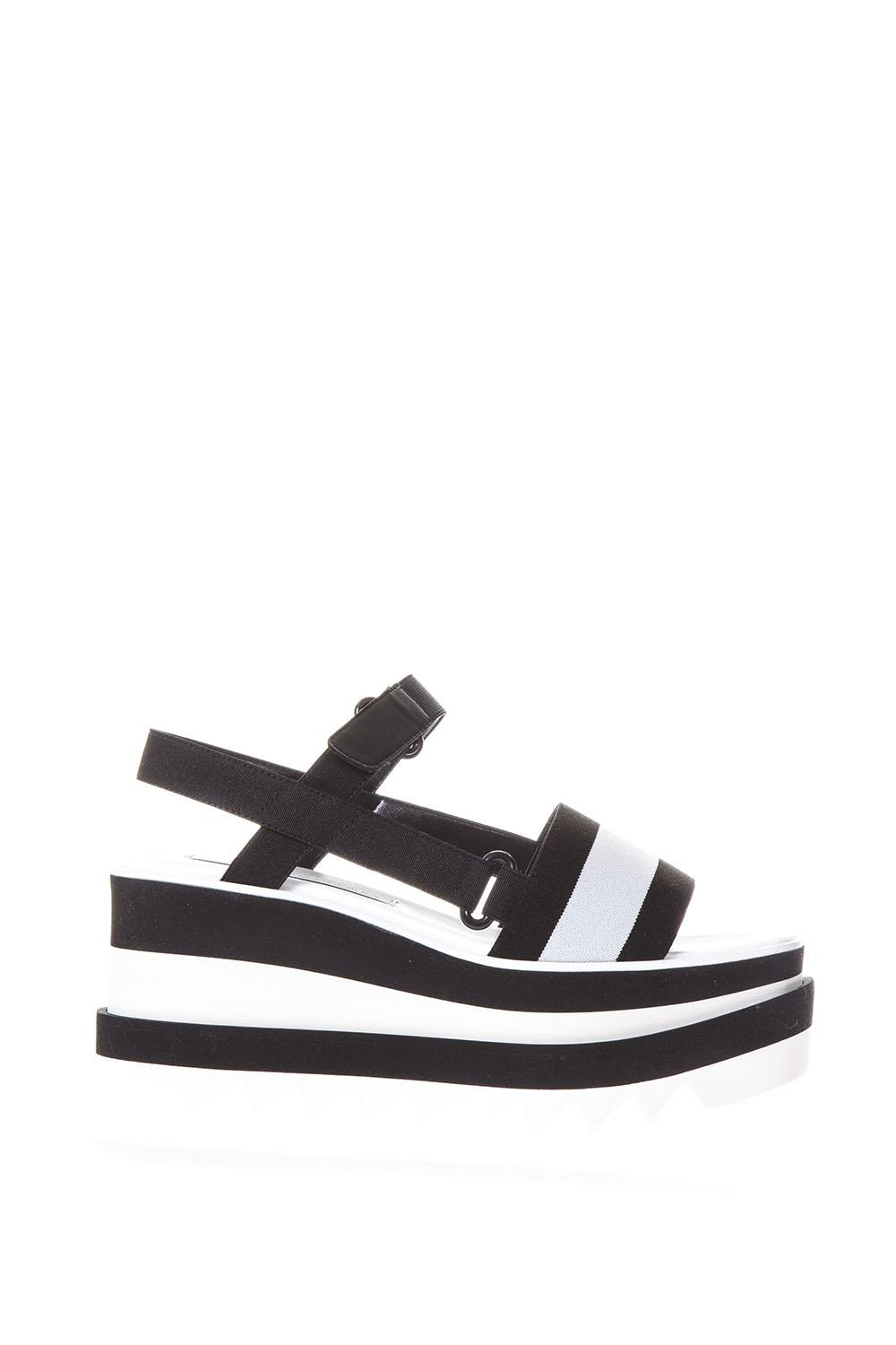 928fadd370f Elyse black and white bands sandals SS2018 - STELLA McCARTNEY - Boutique  Galiano