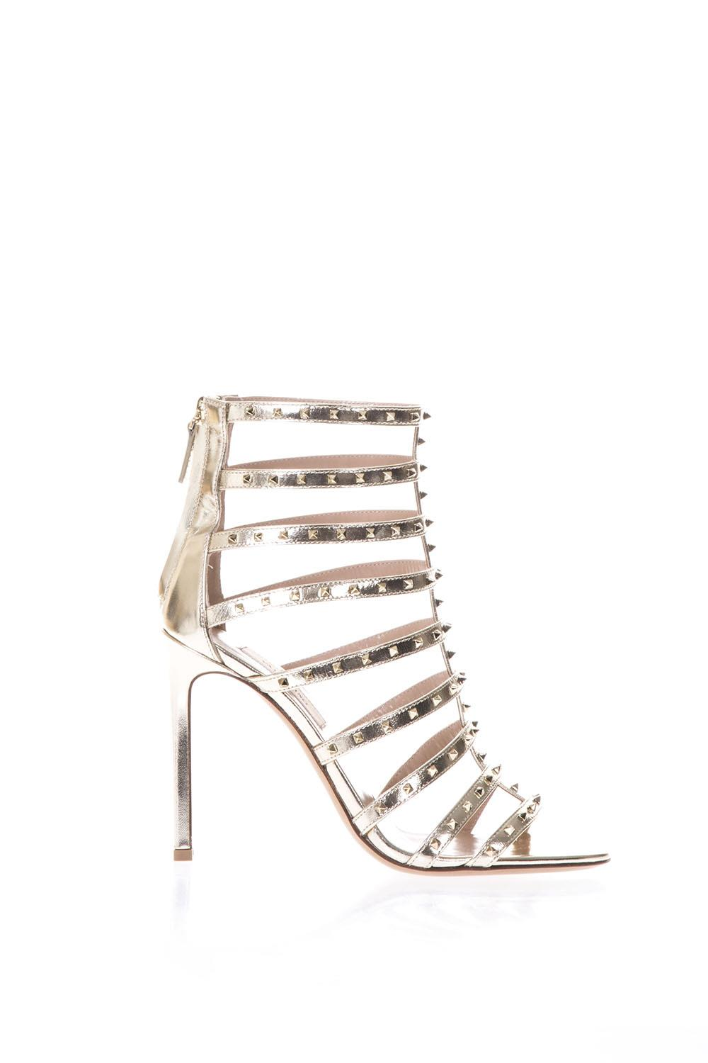 b9d087ad0515 LOVESTUD PLATINUM METALLIC LEATHER SANDALS SS 2018 - VALENTINO GARAVANI -  Boutique Galiano