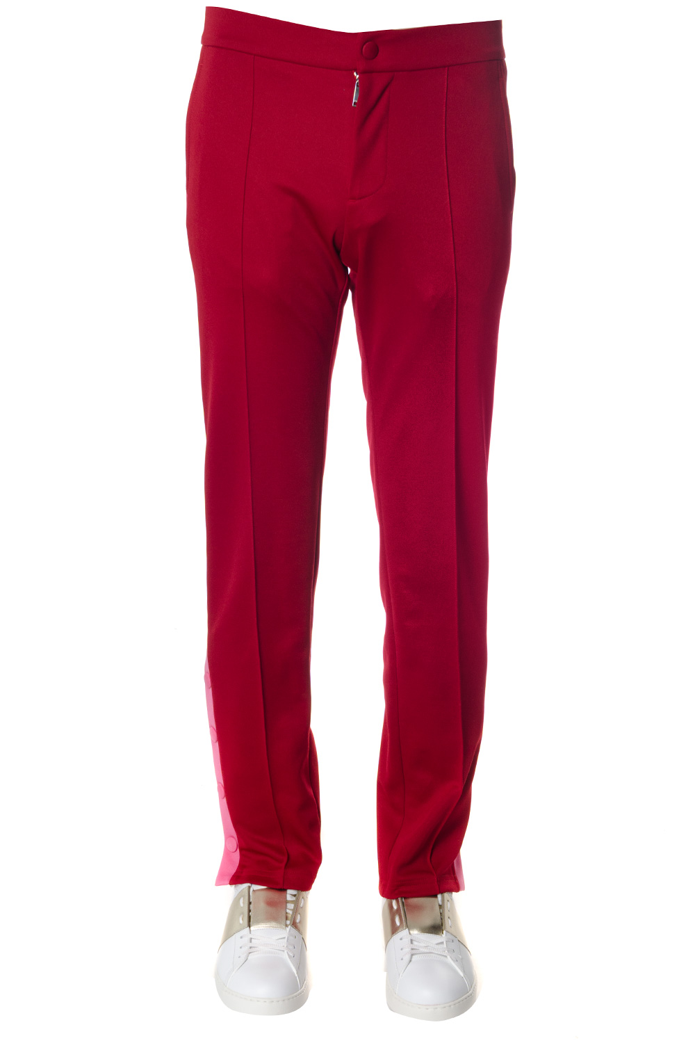 7df211243d1d RED COTTON PANTS SS 2018 - VALENTINO - Boutique Galiano