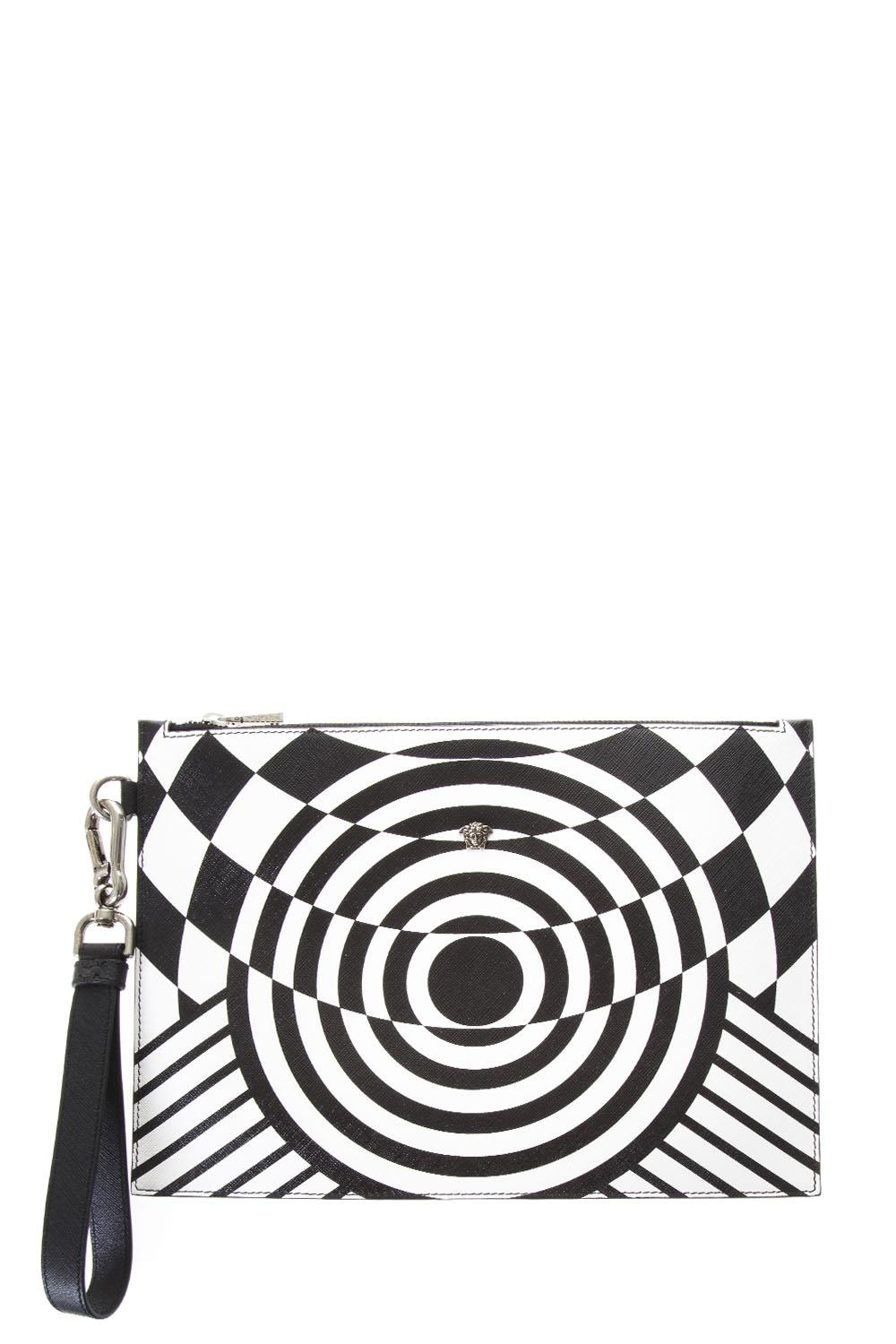 59ae672a2f OPTILLUSION WHITE & BLACK LEATHER CLUTCH SS 2018