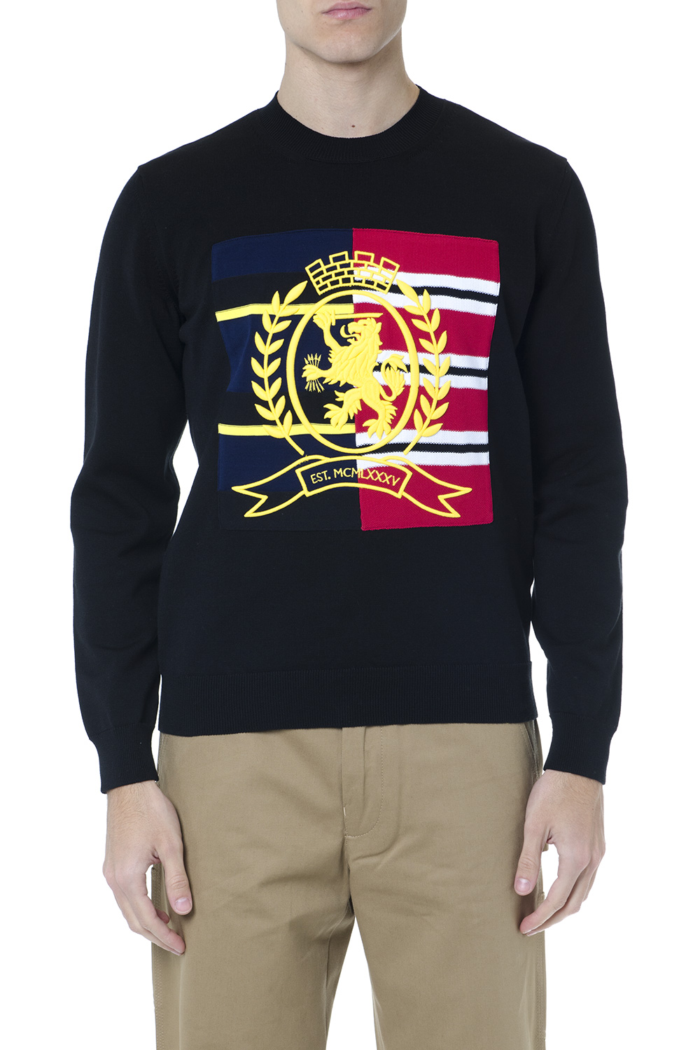 4102cc8f BLACK COTTON SWEATSHIRT WITH EMBROIDERED LOGO SS 2019 - TOMMY HILFIGER -  Boutique Galiano