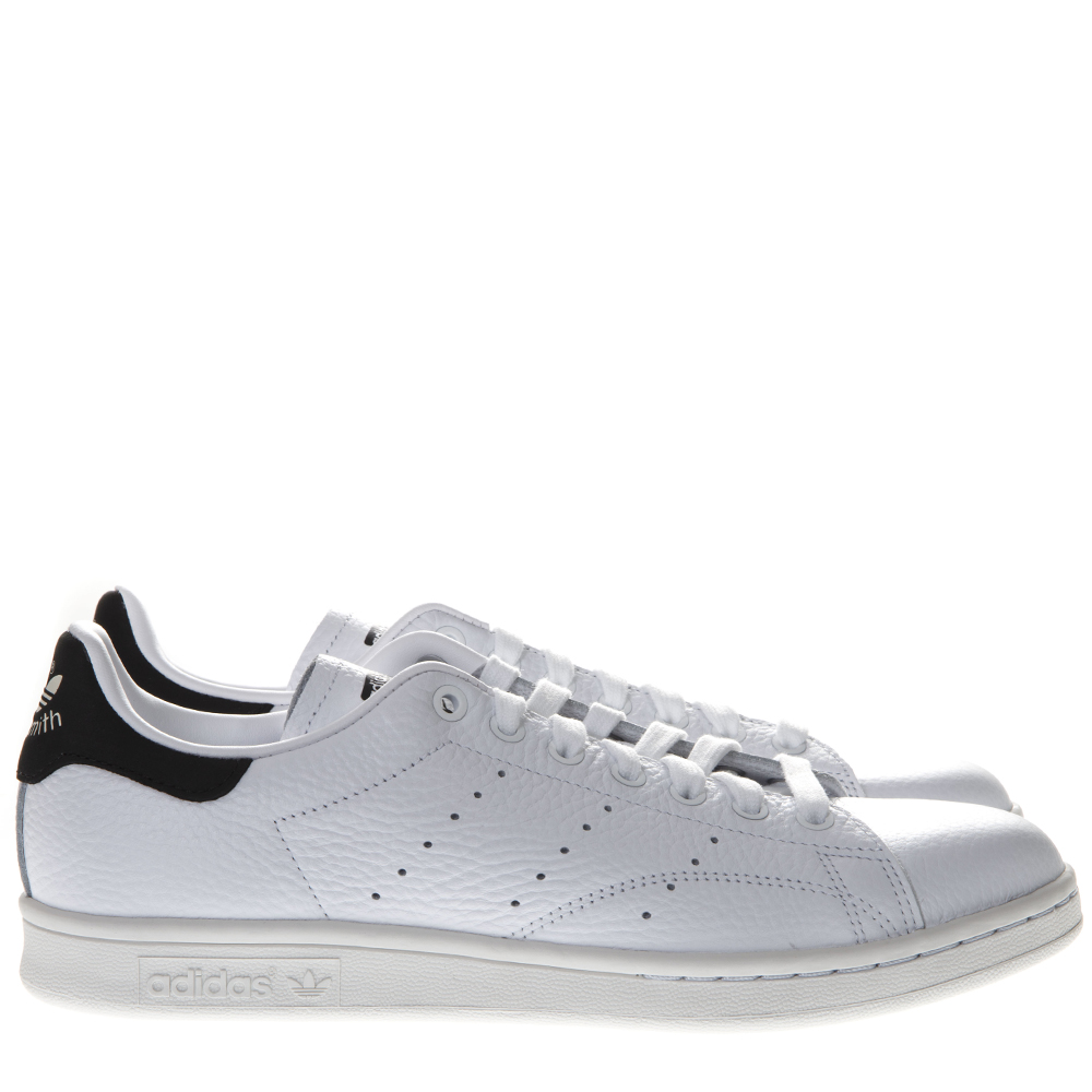 d94f76f75c STAN SMITH WHITE LEATHER AND BLACK SUEDE SNEAKERS SS 2019 - ADIDAS ORIGINALS  - Boutique Galiano