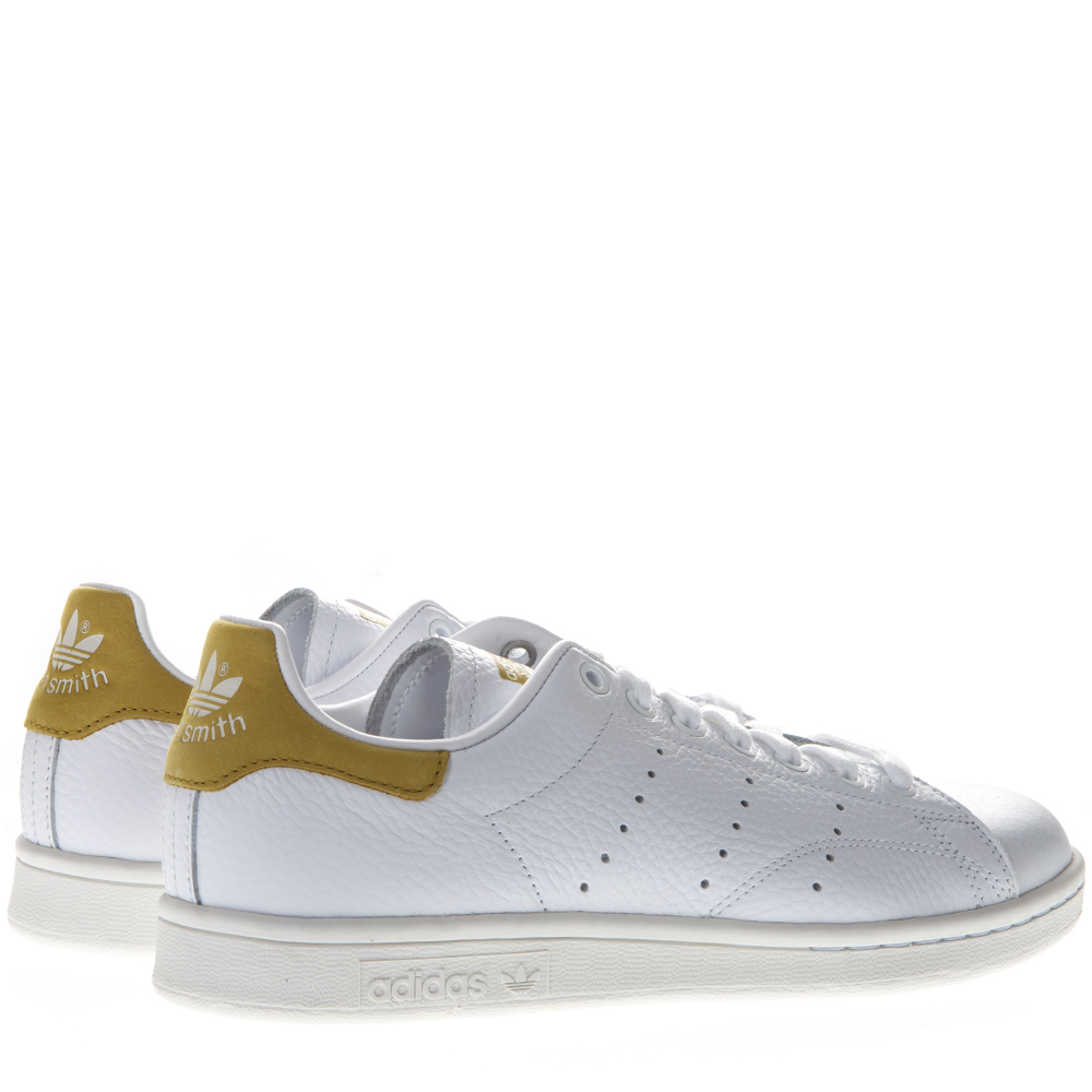 792aad393bef STAN SMITH WHITE LEATHER AND GOLD SUEDE SNEAKERS SS 2019 - ADIDAS ...