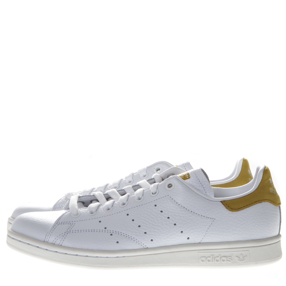 880c7b6d4d67 STAN SMITH WHITE LEATHER AND GOLD SUEDE SNEAKERS. ADIDAS ORIGINALS