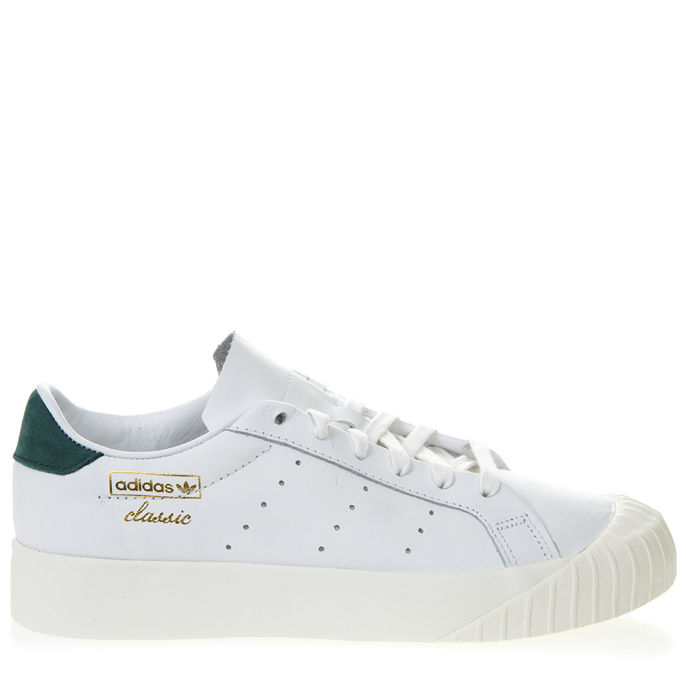 20dd276ac1a56e EVERYN WHITE LEATHER SNEAKERS WITH GREEN NUBUCK INSERT SS 2019 - ADIDAS  ORIGINALS - Boutique Galiano