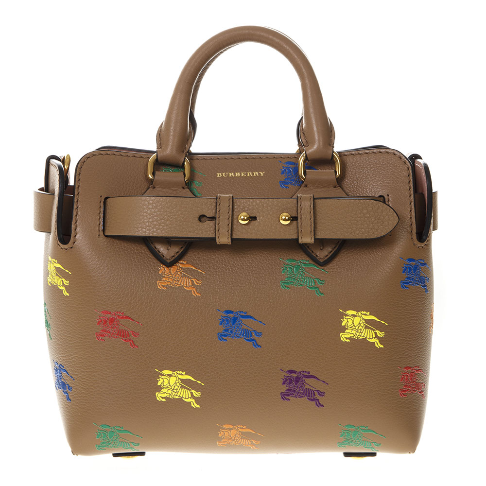 c74912001fa0 THE BELT BAG IN CAMEL LEATHER WITH EQUESTRIAN KNIGHT PRINT SS 2019 -  BURBERRY - Boutique Galiano