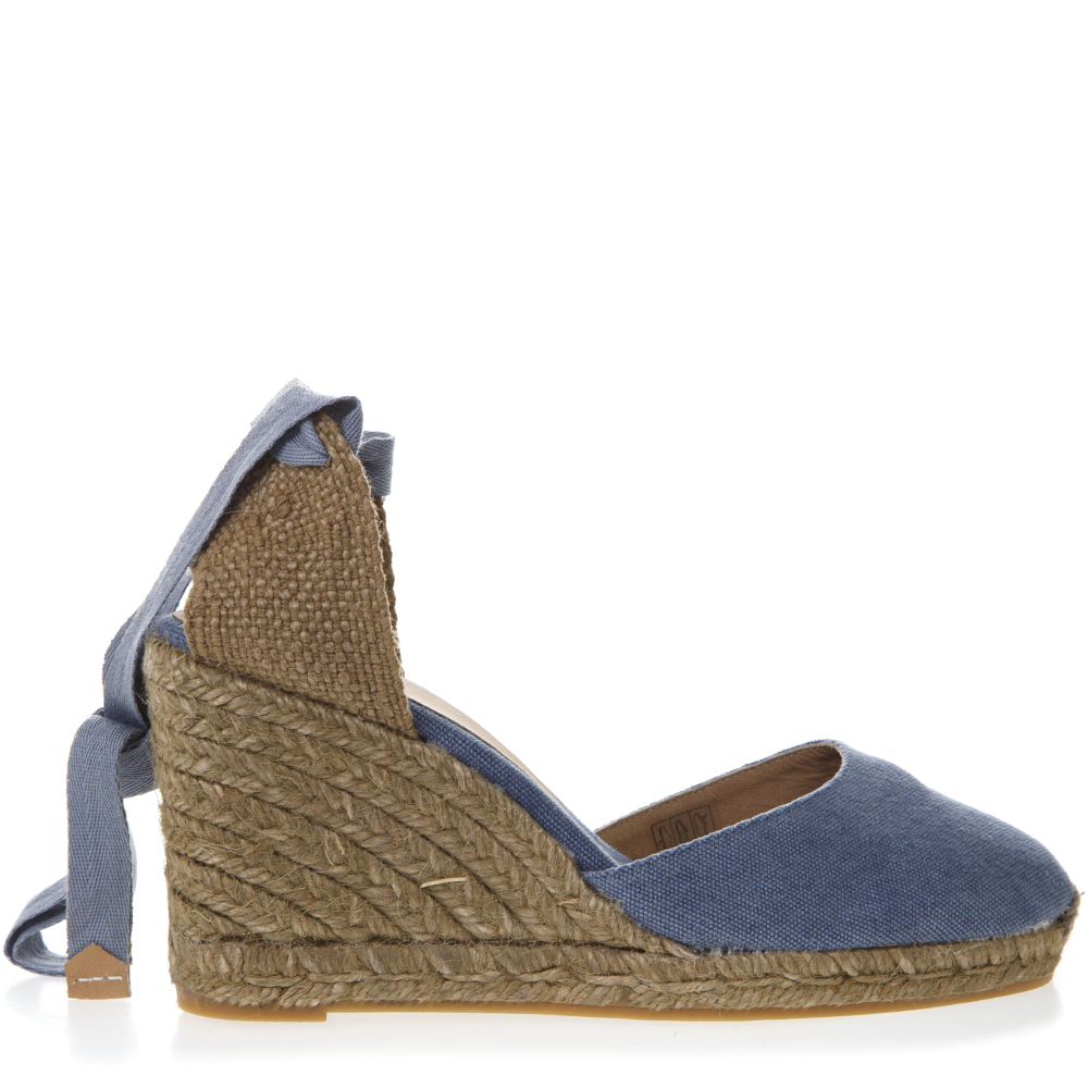 31b48fbb25474d LIGHT BLUE CARINA CANVAS ESPADRILLAS WEDGES SS 2019 - CASTANER - Boutique  Galiano