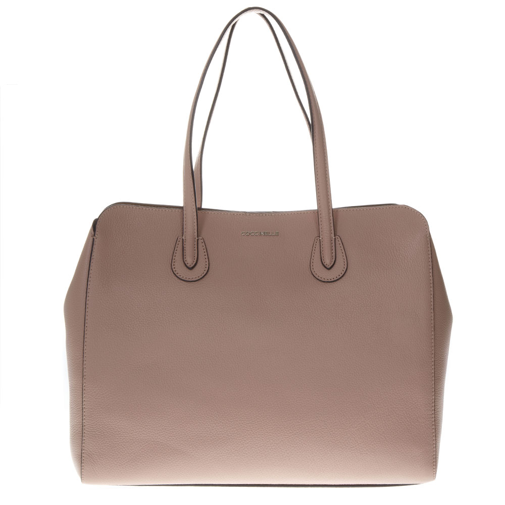 a6ef605c753504 LULIN SOFT NUDE LEATHER BAG SS19 - COCCINELLE - Boutique Galiano