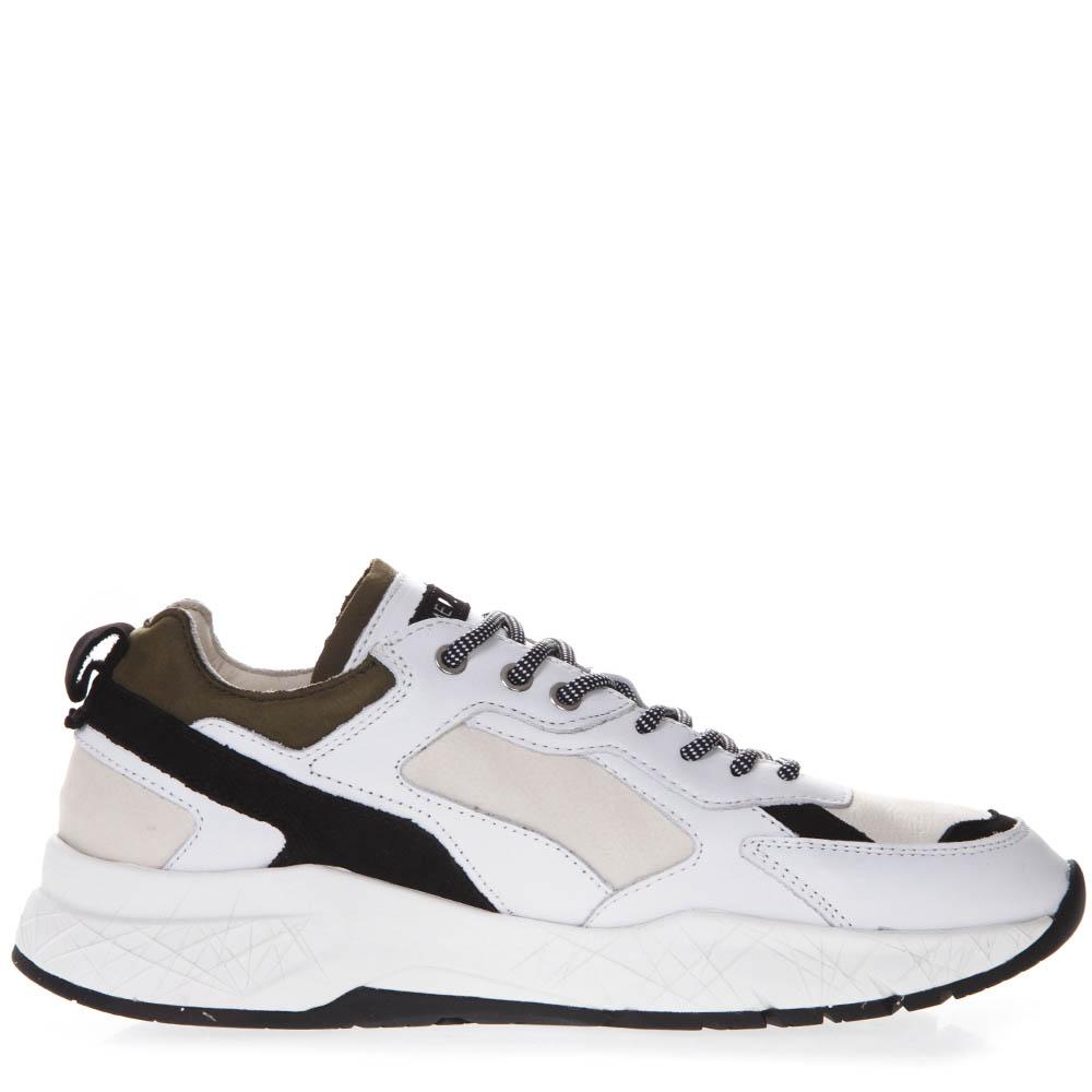 White Leather Nylon Sneakers Ss 2019 Crime London Boutique Galiano