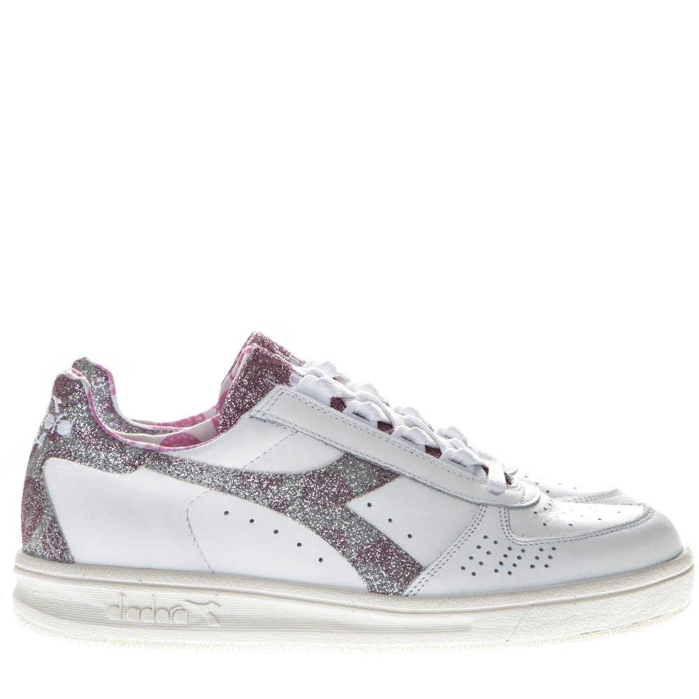 ec99ab94fc0f7 B ELITE H PAISLEY WHITE LEATHER SNEAKERS SS 2019 - DIADORA - Boutique  Galiano