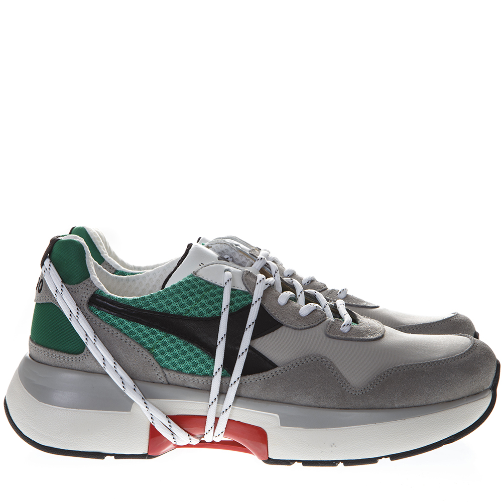 a66775401afd9 GREY   GREEN NYLON   SUEDE SNEAKERS SS 2019 - DIADORA HERITAGE - Boutique  Galiano