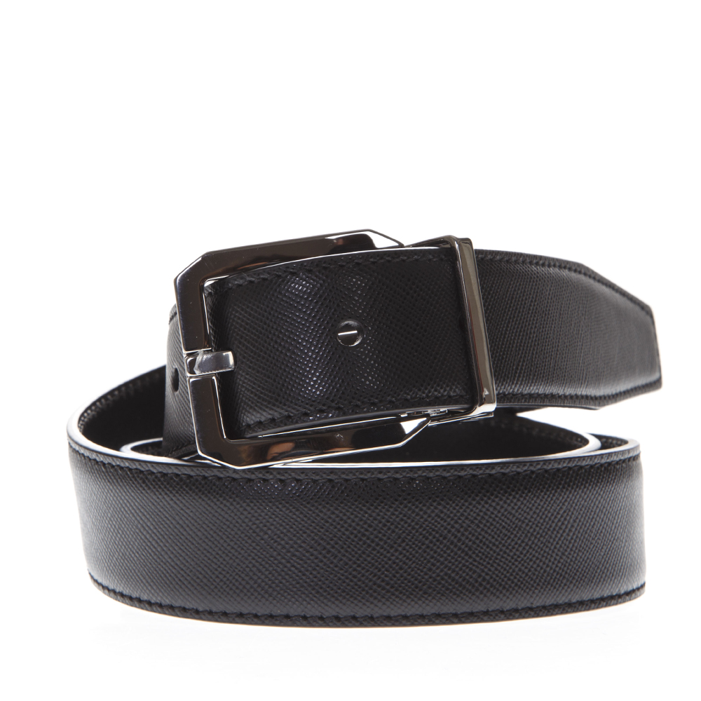 055b807bb7bc1 BLACK BUCKLE LEATHER BELT SS19 - DOLCE   GABBANA - Boutique Galiano