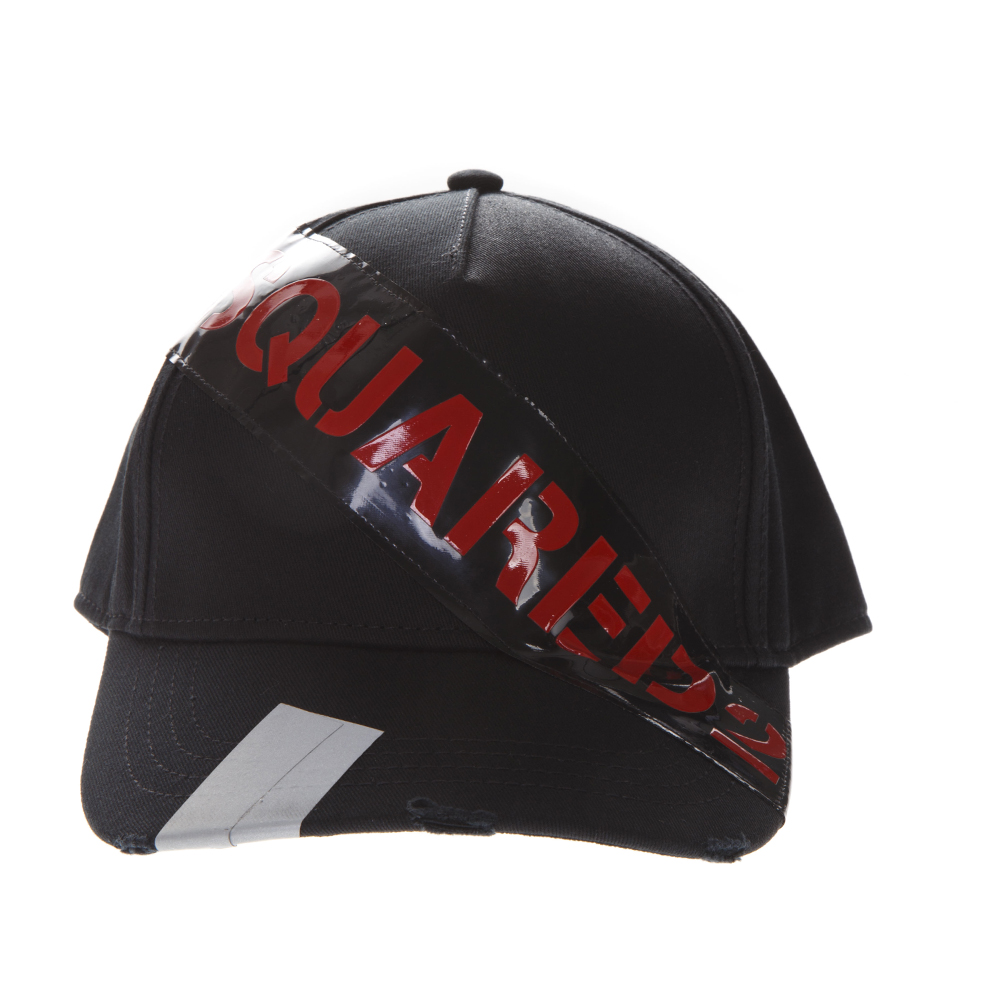 DSQ BLACK COTTON HAT SS19 - DSQUARED2 - Boutique Galiano f26c257bdbe