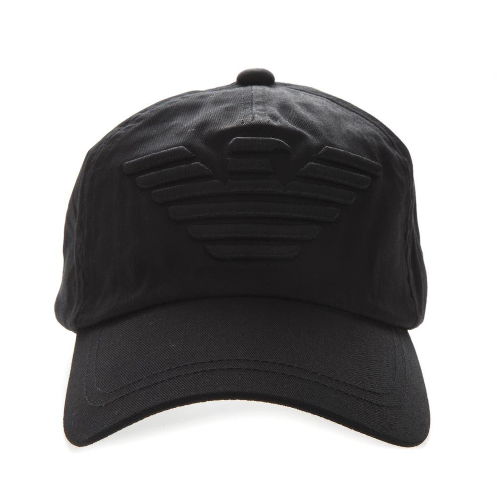 c1de7f89b575b BLACK COTTON LOGO HAT SS19 - EMPORIO ARMANI - Boutique Galiano
