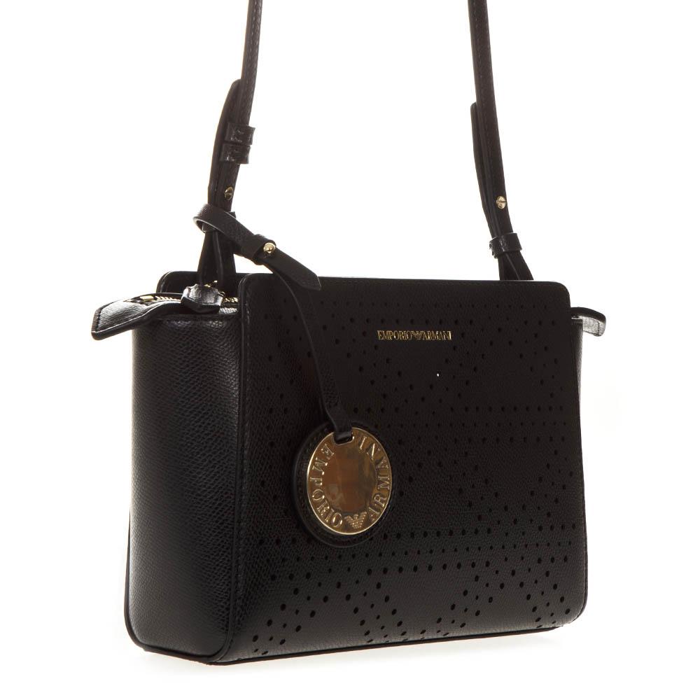 f722d683d44c BLACK FAUX LEATHER BAG SS19 - EMPORIO ARMANI - Boutique Galiano