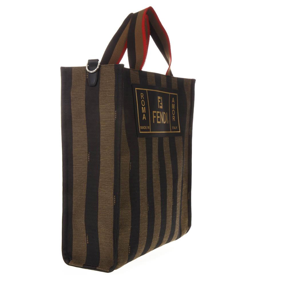 e90ffcfa015e TWO TONE FABRIC SHOPPER BAG SS 2019 - FENDI - Boutique ...