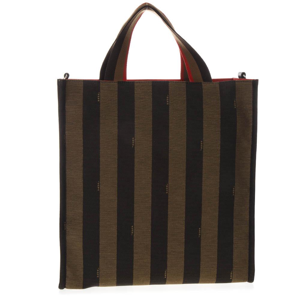 66df971850 SHOPPER BAG IN TESSUTO BICOLORE PE 2019 - FENDI - Boutique Galiano