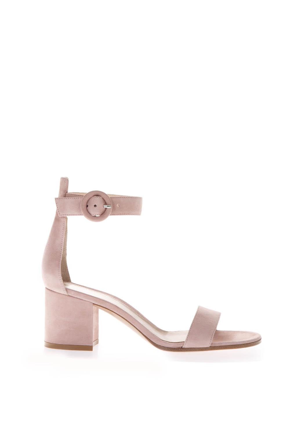 7be4aadbca PINK SUEDE SANDALS WITH 40MM CHUNKY SS 2019 - GIANVITO ROSSI - Boutique  Galiano