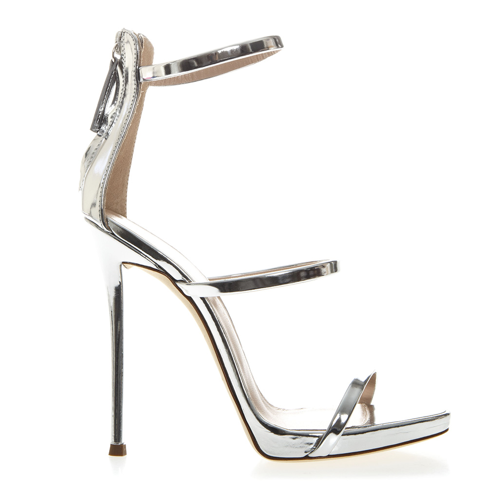 1984f5763099 HARMONY METALLIC SILVER LEATHER SANDALS SS19 - GIUSEPPE ZANOTTI - Boutique  Galiano