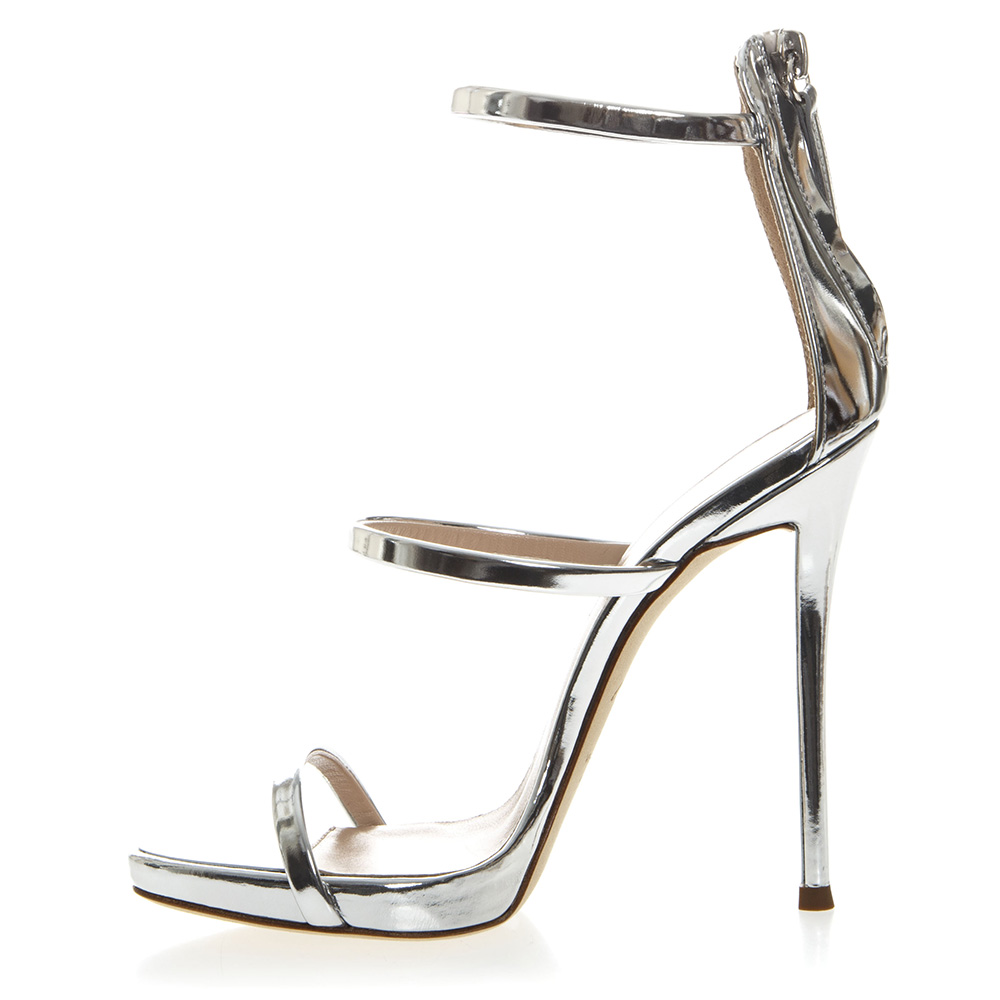 f255bd51369 HARMONY METALLIC SILVER LEATHER SANDALS SS19