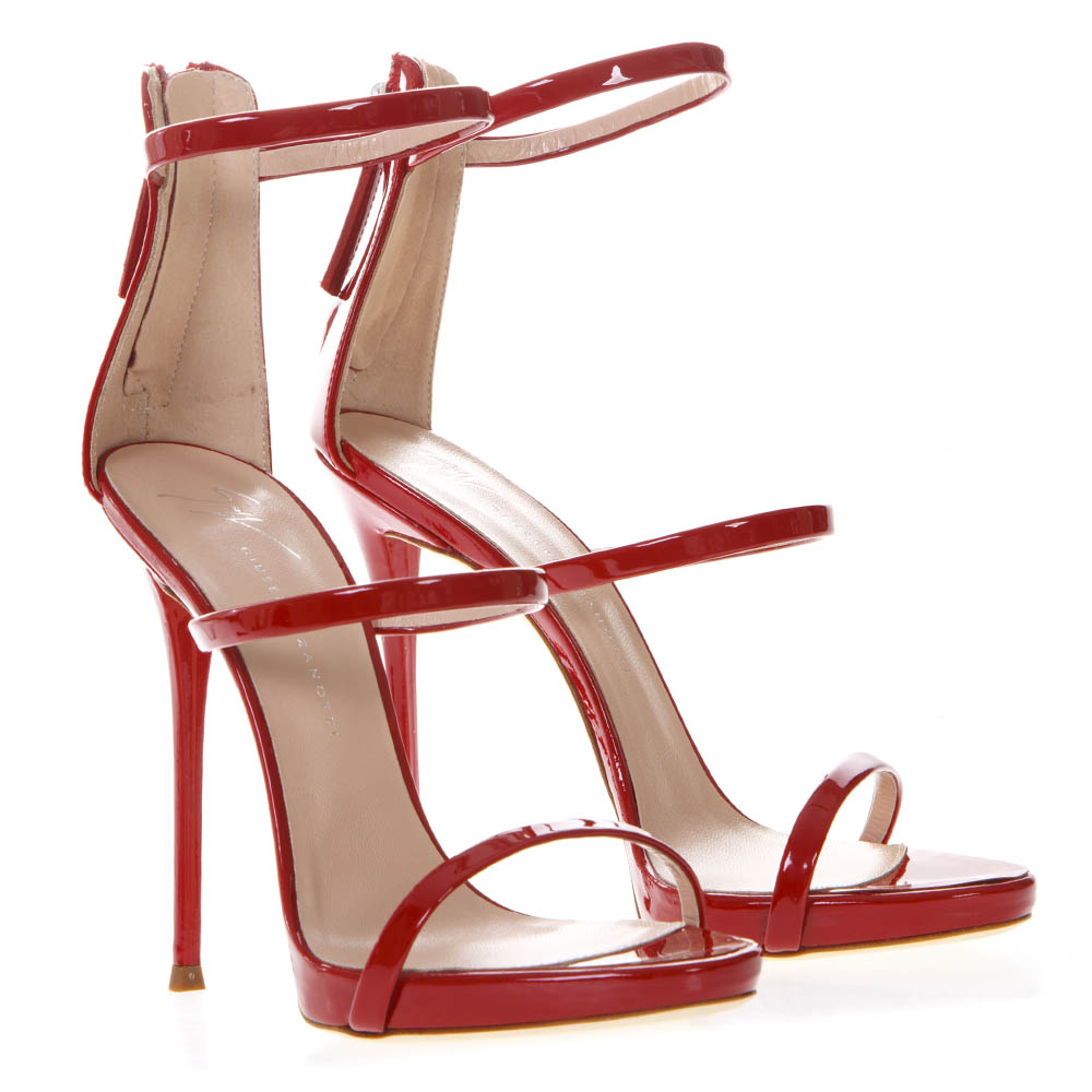 de27bdbd2c0 HARMONY RED LEATHER SANDALS SS 2019