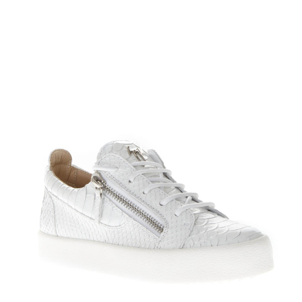 a1444d289fdc9 SNEAKERS IN WHITE CRACKED EFFECT LEATHER SS 2019 - GIUSEPPE ZANOTTI -  Boutique Galiano