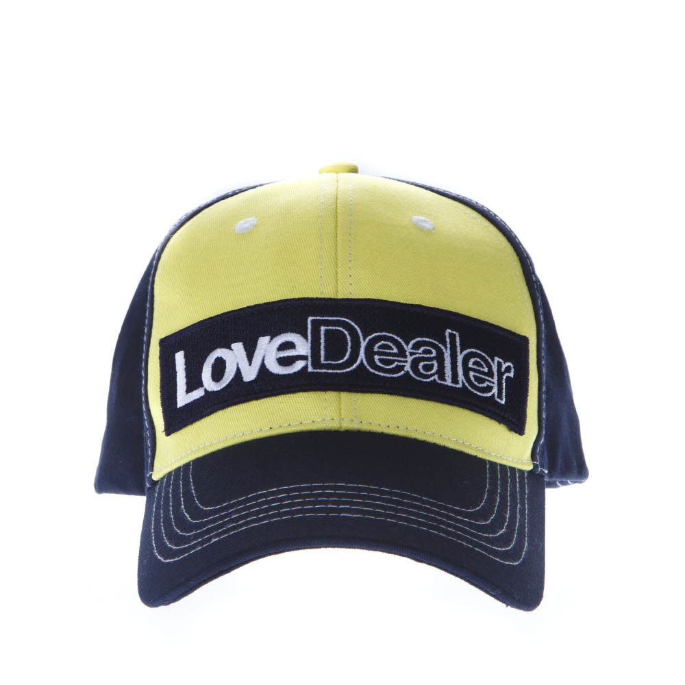 8d00ef2c507 LOVE DEALER YELLOW   BLUE COTTON HAT SS19 - GOLDEN GOOSE DELUXE BRAND - Boutique  Galiano