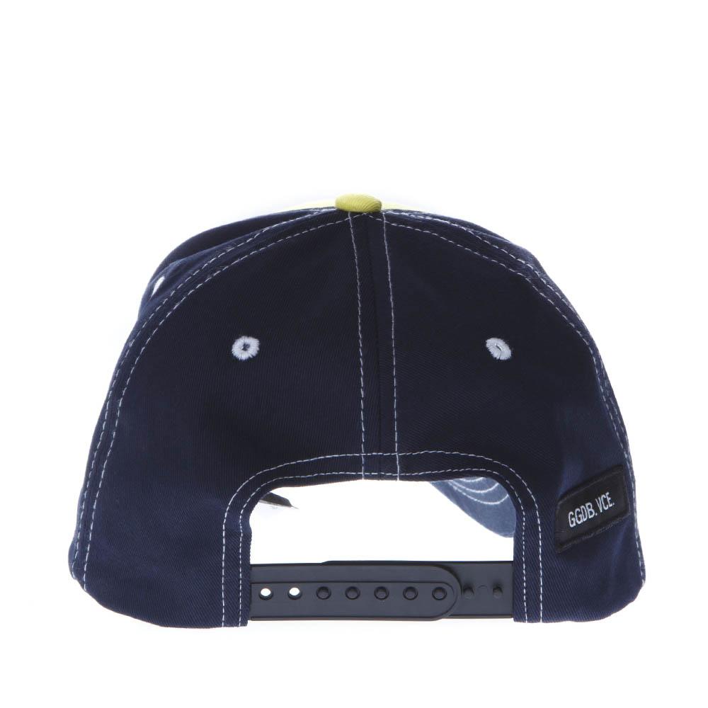 160762cadd6 LOVE DEALER YELLOW   BLUE COTTON HAT. GOLDEN GOOSE DELUXE BRAND