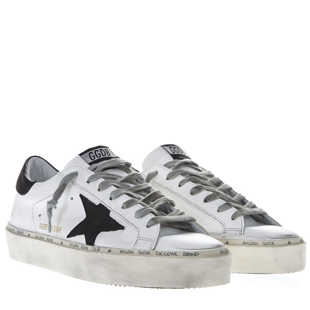 5fb196373318 WHITE LEATHER HI STAR SNEAKERS SS19 - GOLDEN GOOSE DELUXE BRAND - Boutique  Galiano
