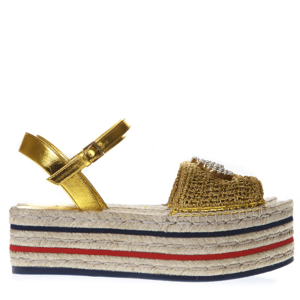 Platfrom 2019 Ss Espadrilles Gold Sandals Yf6gb7yv