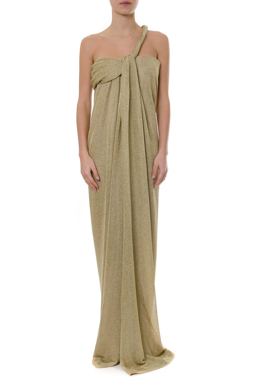 Lanvin 2019 Boutique Long Ss Galiano Lurex Dress Asymmetrical vwUwSPTqR