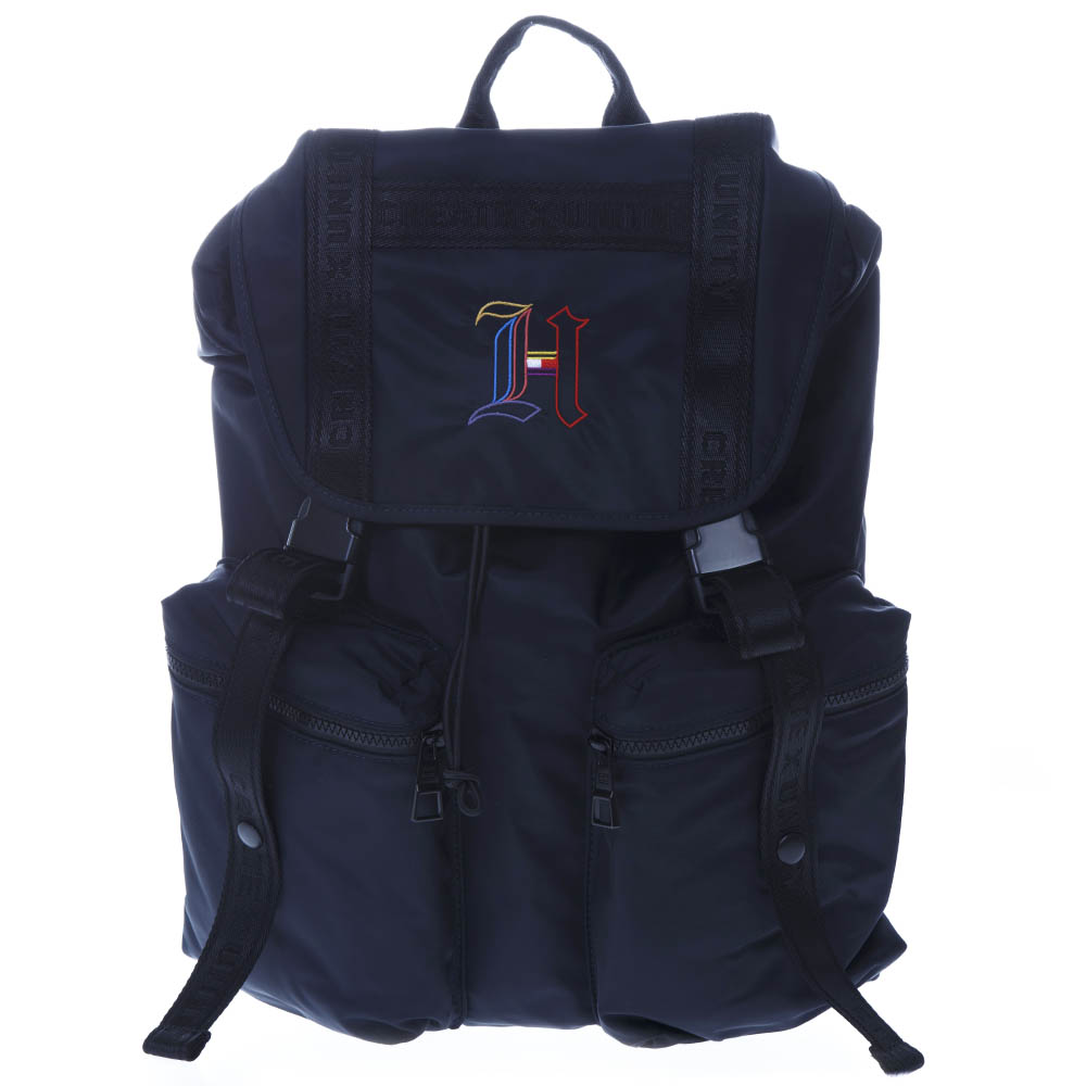 ade24d30 BLUE NYLON BACKPACK WITH LEWIS HAMILTON MONOGRAM SS19 - TOMMY HILFIGER -  Boutique Galiano