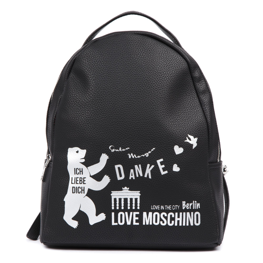 5500ce0b11 BERLIN LOVE THE CITY BLACK BACKPACK SS 2019 - LOVE MOSCHINO - Boutique  Galiano