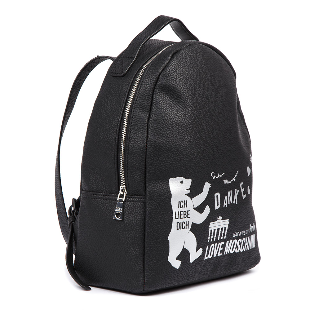 11c86dca54 BERLIN LOVE THE CITY BLACK BACKPACK SS 2019 - LOVE MOSCHINO ...