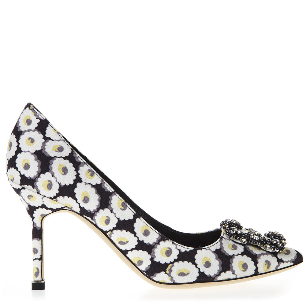 c94947e25 BLACK PUMPS WITH FLORAL PRINT SS 2019- - MANOLO BLAHNIK - Boutique Galiano