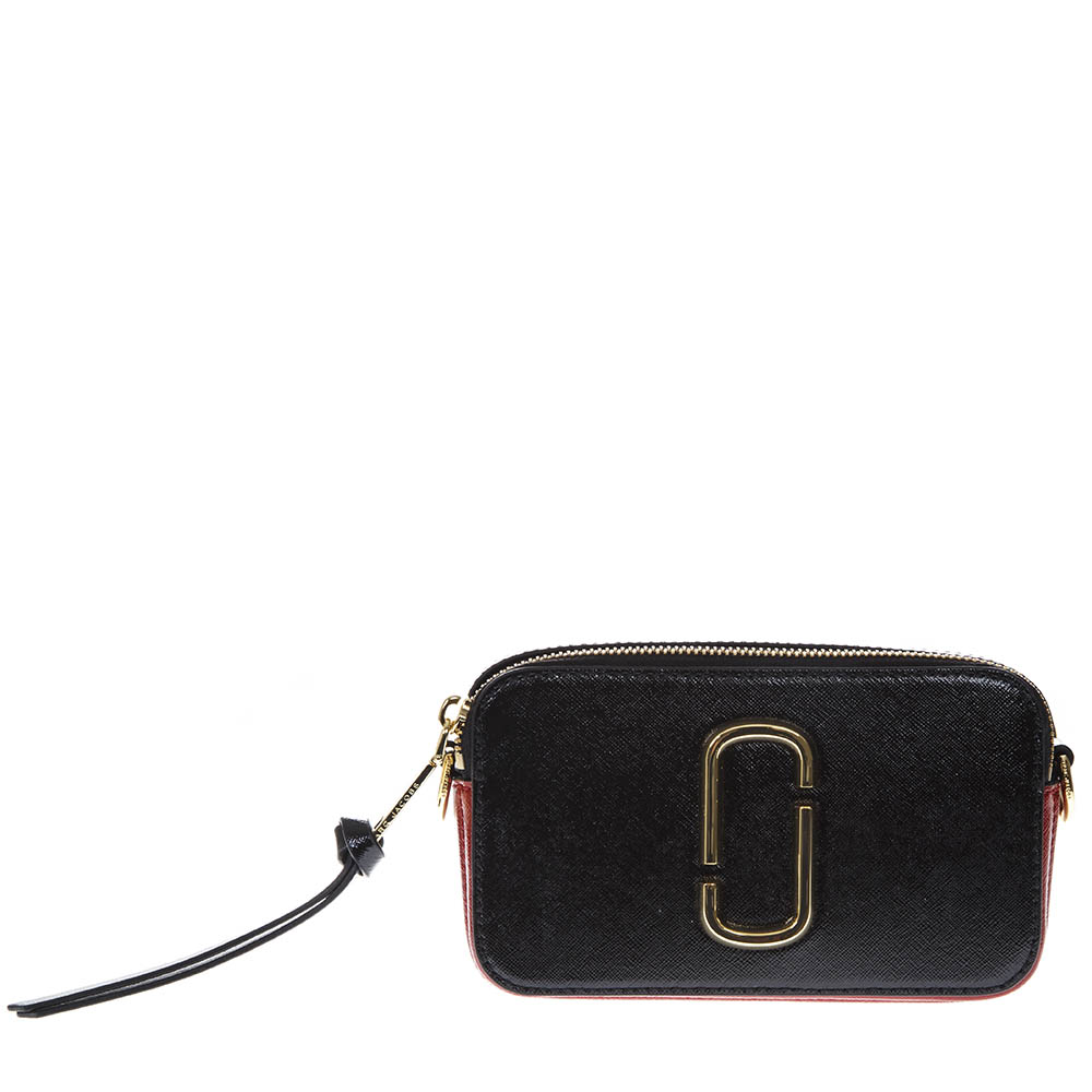 a7796cb8424f SNAPSHOT BLACK LEATHER BAG SS19 - MARC JACOBS - Boutique Galiano
