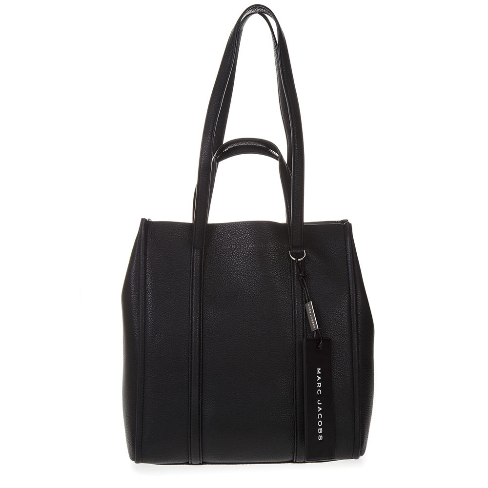cc0d6d8286c9 BLACK TOTE THE TAG BAG IN LEATHER SS 2019 - MARC JACOBS - Boutique Galiano