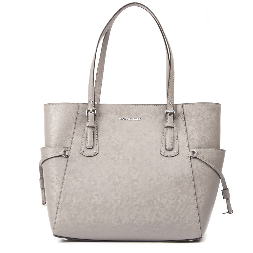 f0ee061c5dbc59 VOYAGER TOTE BAG IN GREY LEATHER SS 2019 - MICHAEL MICHAEL KORS - Boutique  Galiano