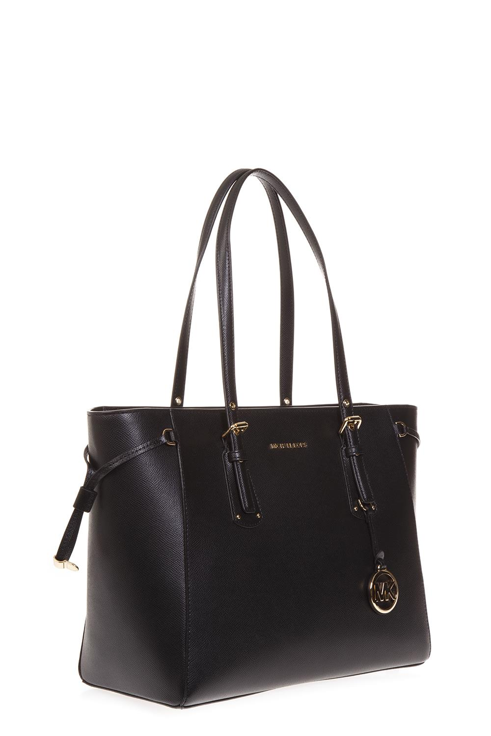 BLACK LEATHER TOTE BAG SS 2019 - MICHAEL MICHAEL KORS - Boutique Galiano 6c4270ccdf5cf