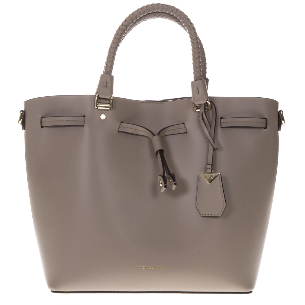 2abf32d9f8f1 BLAKELY LEATHER TAUPE BUCKET BAG SS19 - MICHAEL MICHAEL KORS - Boutique  Galiano