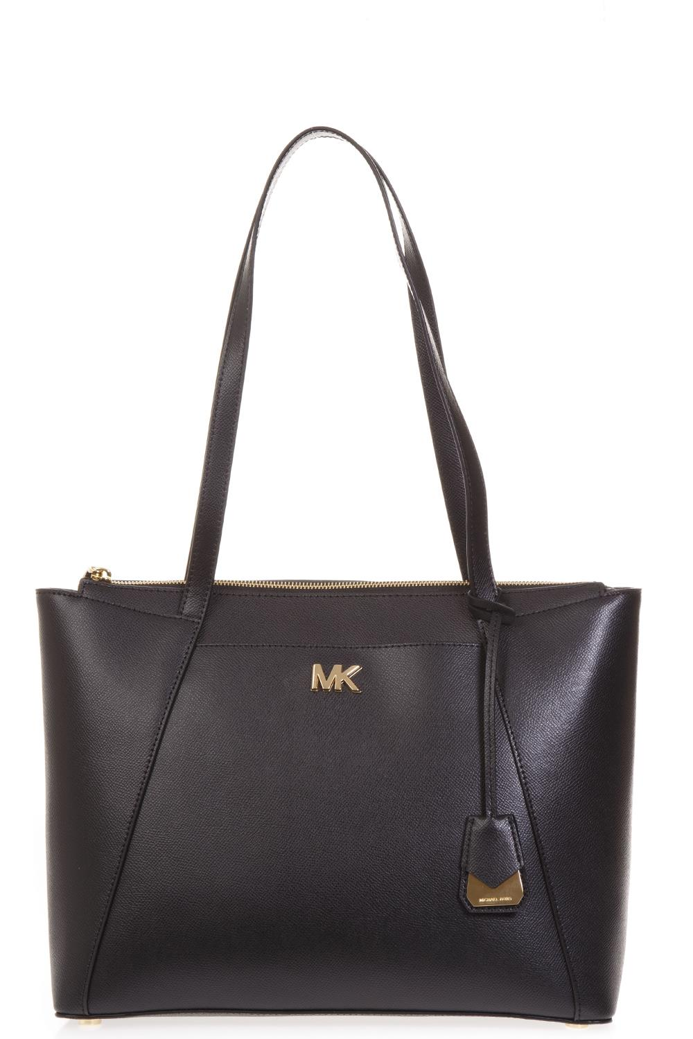 92b4beeef BLACK CROSS GRAIN LEATHER BAG SS 2019 - MICHAEL MICHAEL KORS - Boutique  Galiano